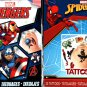 Marvel Avengers and Spider-Man - 25 Tattoo (Set of 2 Pack 50 Tattoos)