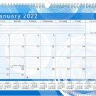 2021 - 2022 Monthly Spiral-Bound Wall / Desk Calendar - 16 Months (Edition Fractal #02)