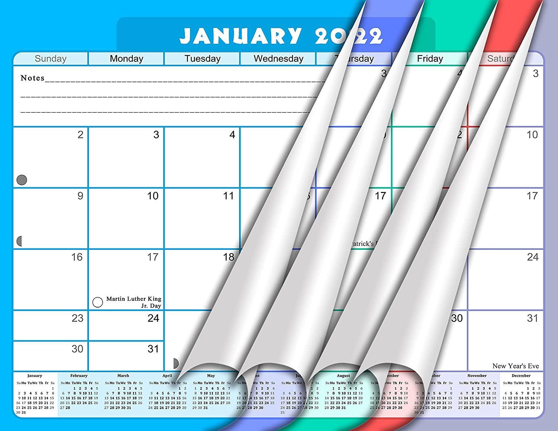 2021 - 2022 Monthly Spiral-Bound Wall / Desk Calendar - 16 Months (Edition #07)