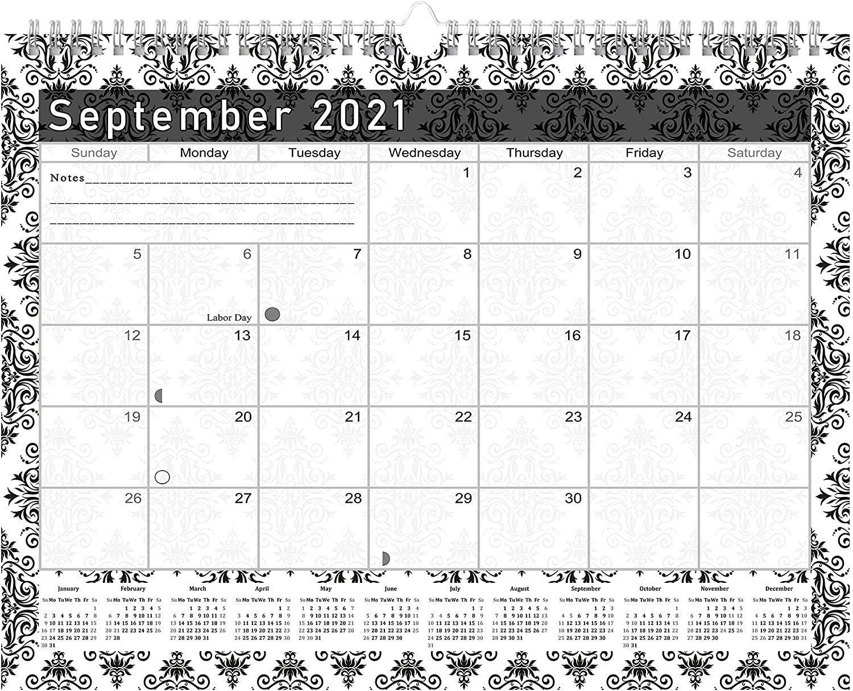 2021 - 2022 Monthly Spiral-Bound Wall / Desk Calendar - 16 Months (Edition #08)