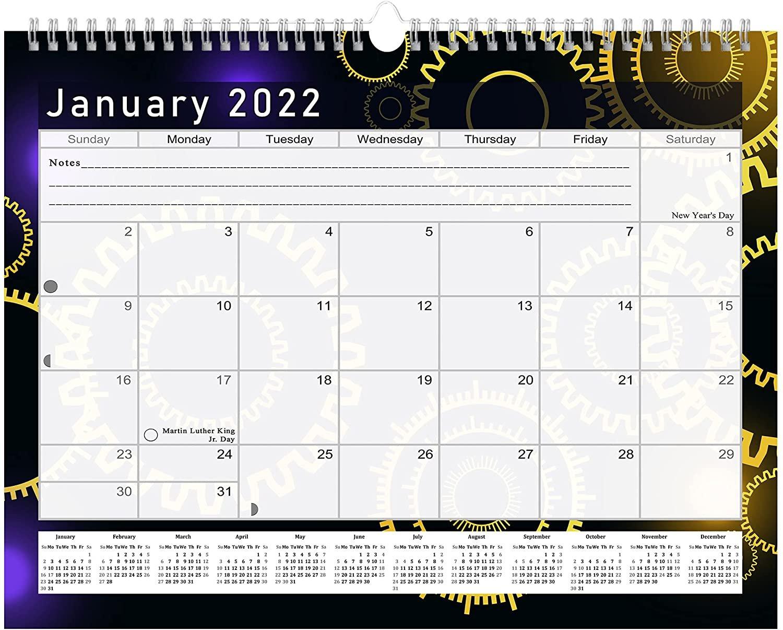 2021 - 2022 Monthly Spiral-Bound Wall / Desk Calendar - 16 Months (Edition #09)
