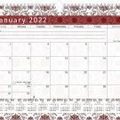 2021 - 2022 Monthly Spiral-Bound Wall / Desk Calendar - 16 Months (Edition #014)