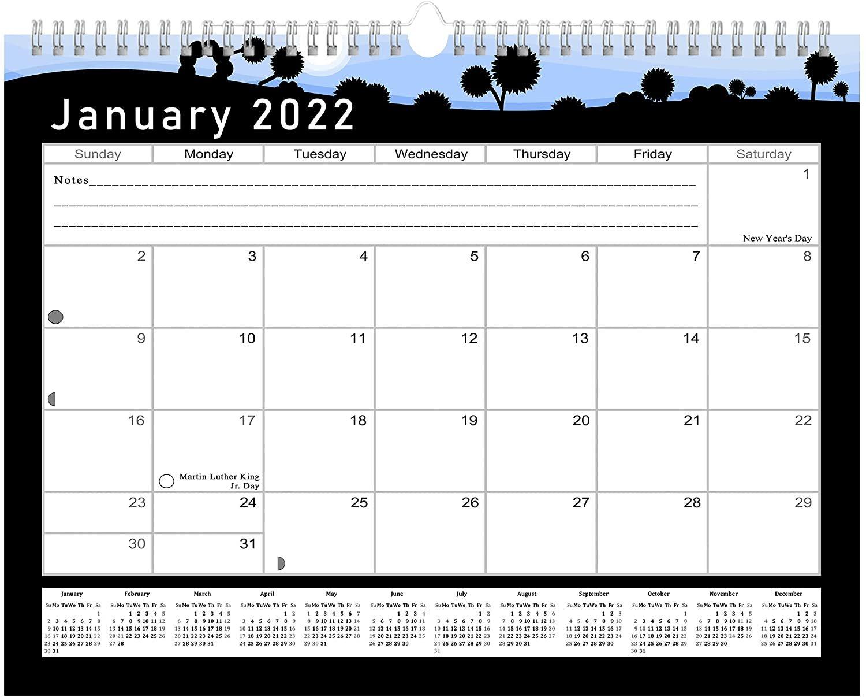 2021 - 2022 Monthly Spiral-Bound Wall / Desk Calendar - 16 Months (Edition #015)