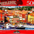 Harbor and Colorful Building on the French Riviera - 500 Pieces Jigsaw Puzzle