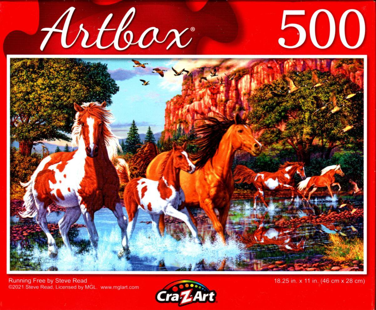 Running Free by Steve Read - 500 Pieces Jigsaw Puzzle