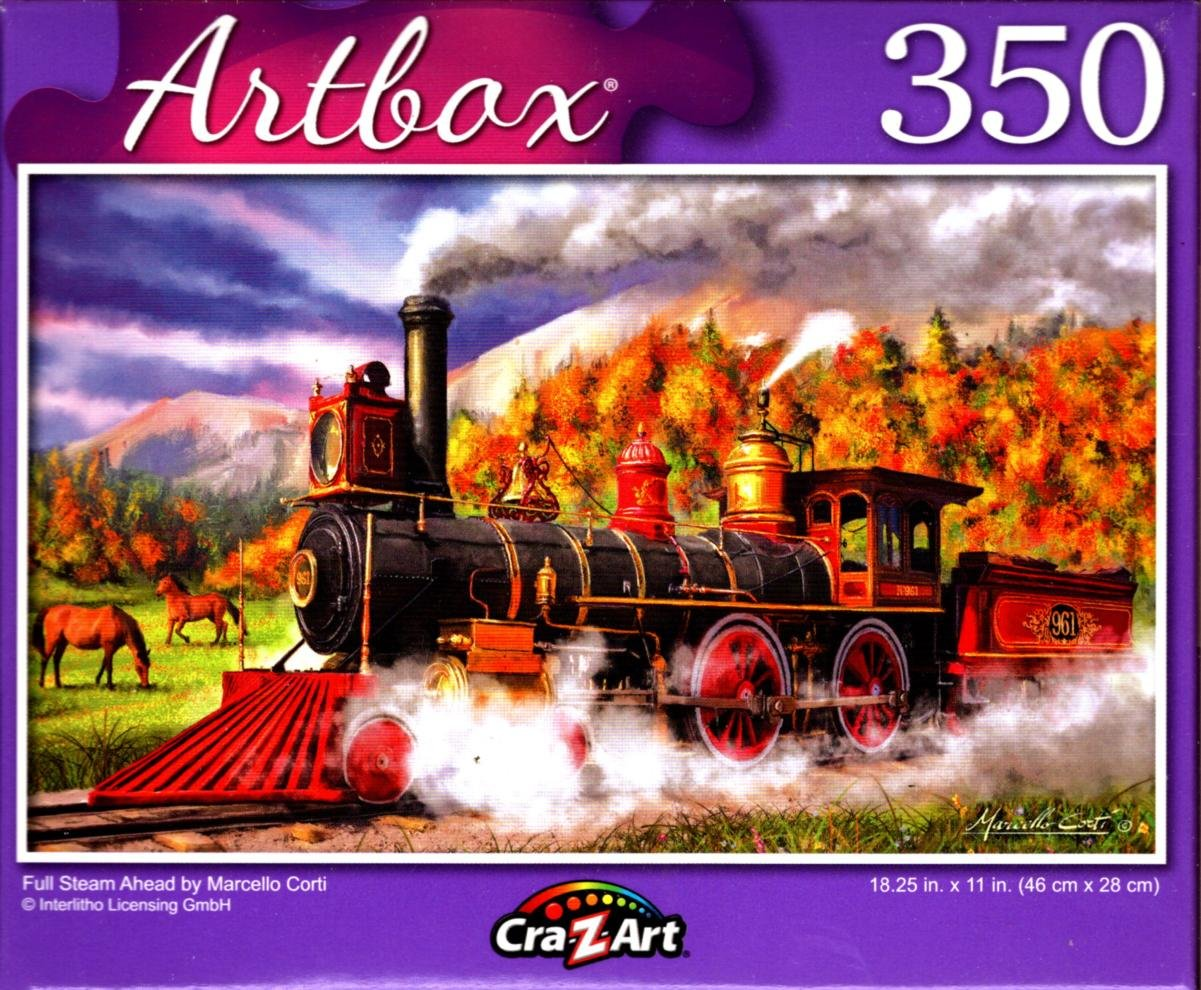 Full Steam Ahead by Marcello Corti - 350 Pieces Jigsaw Puzzle