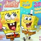SpongeBob - Jumbo Coloring & Activity Book - Vitamin Sea and Fry Cook & Friends (Set of 2 Books)