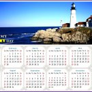 2022 Magnetic Calendar - Today is My Lucky Day - (Portland Lighthouse View)