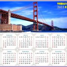 2022 Magnetic Calendar - Today is My Lucky Day - Golden Gate Bridge