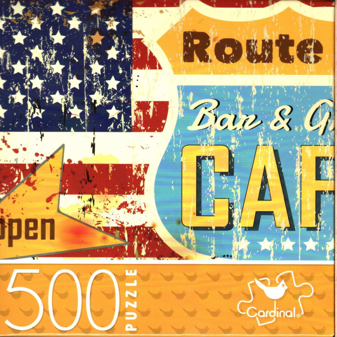 Route 66 Diner - 500 Piece Jigsaw Puzzle for Age 14+
