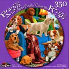 Playful Puppies - 350 Round Piece Jigsaw Puzzle for Age 14+