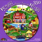 Red Farms Inn by Cheryl Bartley - 350 Round Piece Jigsaw Puzzle for Age 14+