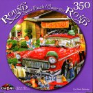 Car Wash Saturday - 350 Round Piece Jigsaw Puzzle for Age 14+