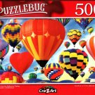 Colorful Hot Air Balloons Flying - 500 Pieces Jigsaw Puzzle for Age 14+
