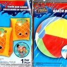 Splash-N-Swim - Splash-N-Swim - Beach Ball 20 in & Swim Arm Bands 1 pair (Set of 2)