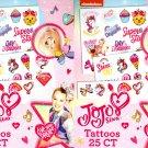 Jojo Siwa - Tattoos 25 st.- Live your Dream. (Set of 2)