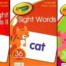 Crayola - Language Skills Flash Cards - Sight Words, Sight Words II, Phonics I (Set of 3 Pack)