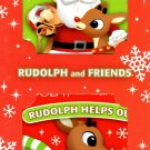 Rudolph & Friends - Rudolph Helps Out & Santa's Big Day! - Holiday Christmas Children's Board Book