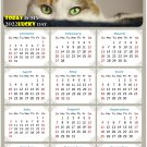 2022 Magnetic Calendar - Calendar Magnets - Today is My Lucky Day - Cat Themed 012 (5.25 x 8)