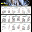2022 Magnetic Calendar - Calendar Magnets - Today is My Lucky Day - Cat Themed 011 (5.25 x 8)