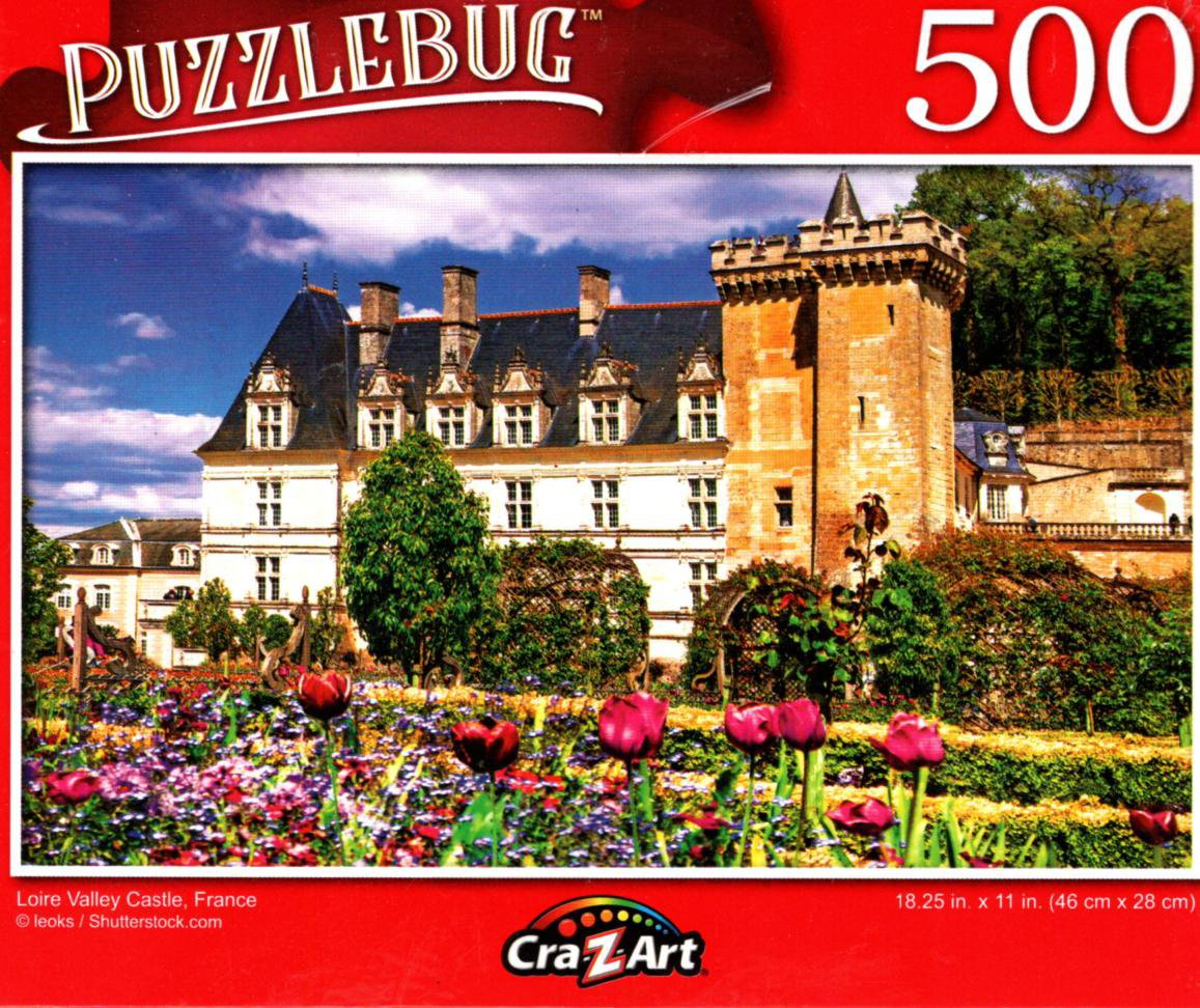 Loire Valley Castle, France - 500 Pieces Jigsaw Puzzle for Age 14+