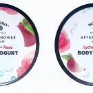 After Shower Cream Lychee + Rose - Body Yogurt 5fl oz (141.7ml) (Set of 2 Pack)