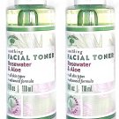 Bolero Facial Toner - Rosewater & Aloe 4fl oz 118ml (Set of 2 Pack)