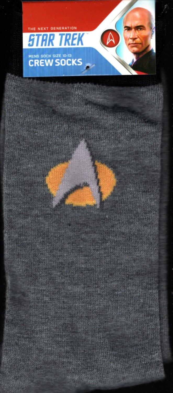 Star Trek Men's Crew Socks Size 10-13