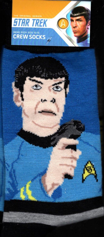 Star Trek Spock Men's Crew Socks Size 10 11 12 13