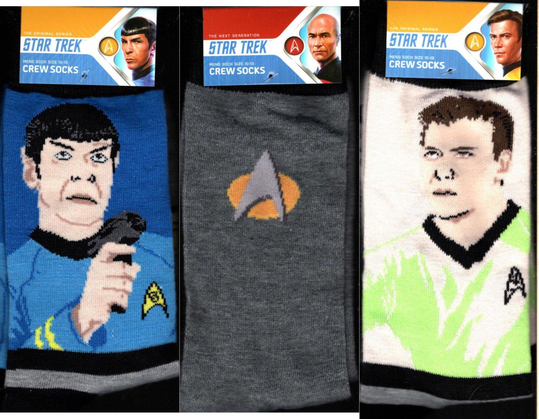 Star Trek Spock Men's - (Set of 3 Pack) 10-13