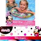 What Kids Want Disney Junior - Minnie Swim Goggles + Swim Ring (Set of 2)