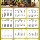 2022 Magnetic Calendar - Calendar Magnets - Today is My Lucky Day - Dogs Themed 04 (7 x 10.5)