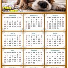 2022 Magnetic Calendar - Calendar Magnets - Today is My Lucky Day - Dogs Themed 01 (7 x 10.5)