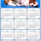 2022 Magnetic Calendar - Calendar Magnets - Today is My Lucky Day - Dogs Themed 011 (7 x 10.5)
