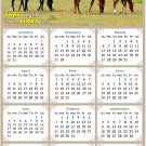 2022 Magnetic Calendar - Calendar Magnets - Today is My Lucky Day - Horses Themed 010 (7 x 10.5)