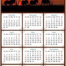 2022 Magnetic Calendar - Calendar Magnets - Today is My Lucky Day - Horses Themed 011 (5.25 x 8)