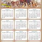 2022 Magnetic Calendar - Calendar Magnets - Today is My Lucky Day - Horses Themed 09 (5.25 x 8)
