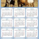 2022 Magnetic Calendar - Calendar Magnets - Today is My Lucky Day - Horses Themed 07 (7 x 10.5)