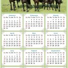 2022 Magnetic Calendar - Calendar Magnets - Today is My Lucky Day - Horses Themed 06 (7 x 10.5)