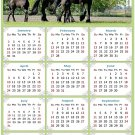 2022 Magnetic Calendar - Calendar Magnets - Today is My Lucky Day - Horses Themed 05 (7 x 10.5)