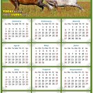 2022 Magnetic Calendar - Calendar Magnets - Today is My Lucky Day - Horses Themed 03 (5.25 x 8)