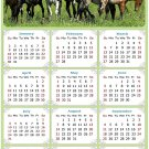 2022 Magnetic Calendar - Calendar Magnets - Today is My Lucky Day - Horses Themed 02 (7 x 10.5)