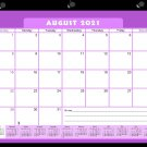 2021-2022 Academic Year 12 Months Student Calendar/Planner, Desk or Wall, Use -v005