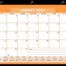 2021-2022 Academic Year 12 Months Student Calendar/Planner, Desk or Wall, Use -v007