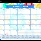 2021-2022 Academic Year 12 Months Student Calendar/Planner, Desk or Wall, Use -v008