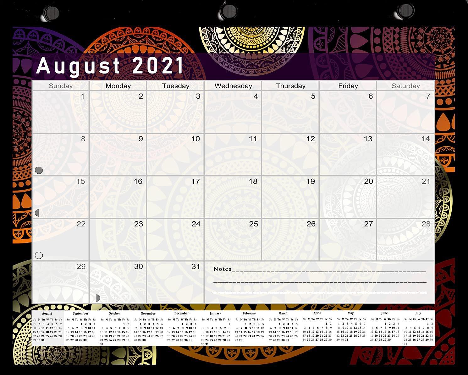 2021-2022 Academic Year 12 Months Student Calendar/Planner -v015
