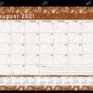 2021-2022 Academic Year 12 Months Student Calendar/Planner -v017 (Brown Paisley)
