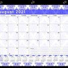 2021-2022 Academic Year 12 Months Student Calendar/Planner -v018 (Damask Blue)