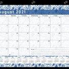 2021-2022 Academic Year 12 Months Student Calendar/Planner -v019 (Navy Paisley)