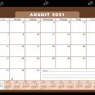 2021-2022 Academic Year 12 Months Student Calendar/Planner -v022 (Brown)